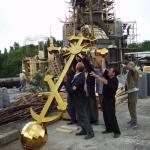 Освящение и установка креста 23 июня 2003 года